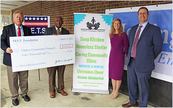 Check Presentation to Onslow Community Outreach